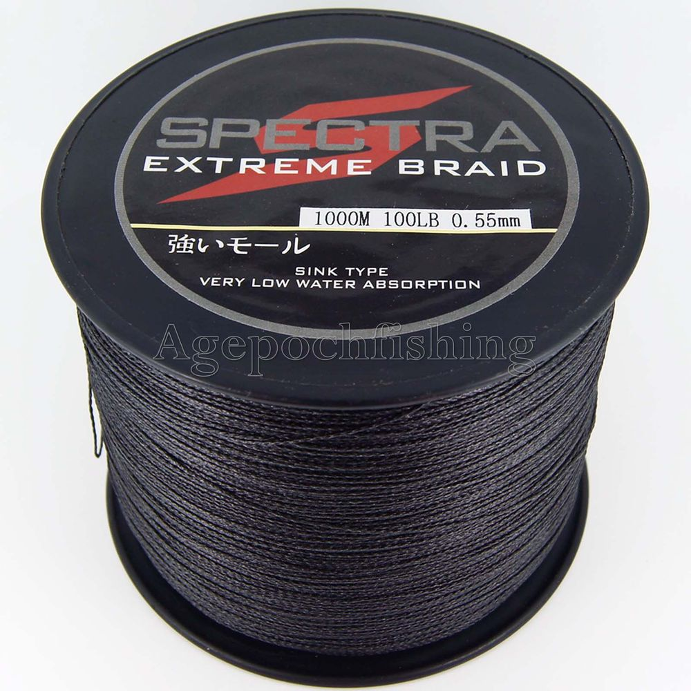 Buy free shipping factory price 4 for Black braided fishing line