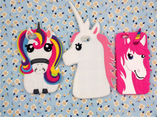 Buy Fashion 3D Cute Cartoon Rainbow Unicorn Soft Silicone Rubber Case Cover For Apple iPhone 6/6S Silicon Gell Phone case for $2.79 in AliExpress store