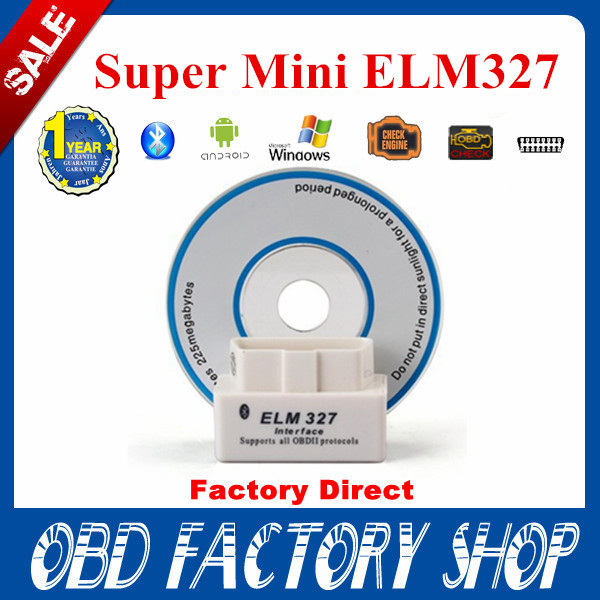 2015 newest version V2.1SUPER MINI ELM327 Bluetooth OBD2 White Smart Car Diagnostic Interface ELM 327 Wireless Scan Tool(China (Mainland))