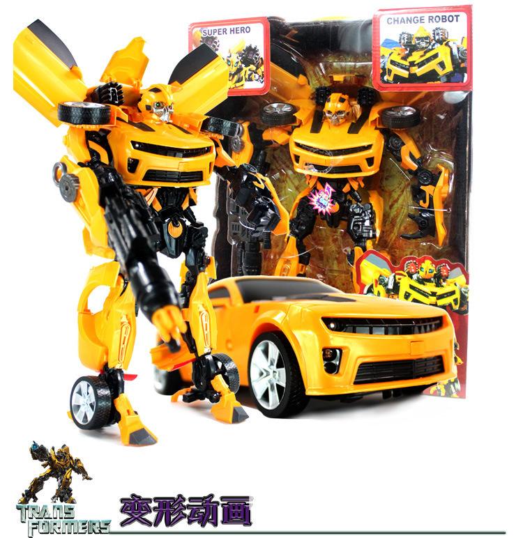 Deformation Robot Movie TV Deformation Autobots Children's toys super deformed Hornet audible sound toy robot model Robot Model(China (Mainland))