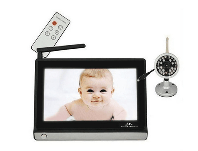 7 39 39 lcd wireless night vision video camera baby monitor security camer. Black Bedroom Furniture Sets. Home Design Ideas