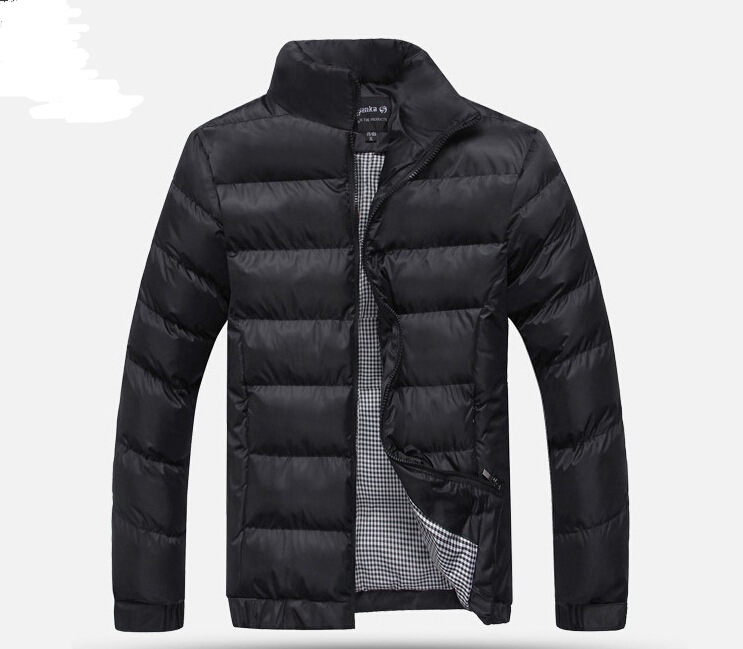 Men stand collar coat men winter clothes padded jacket thick warm down jacket Men s parkas