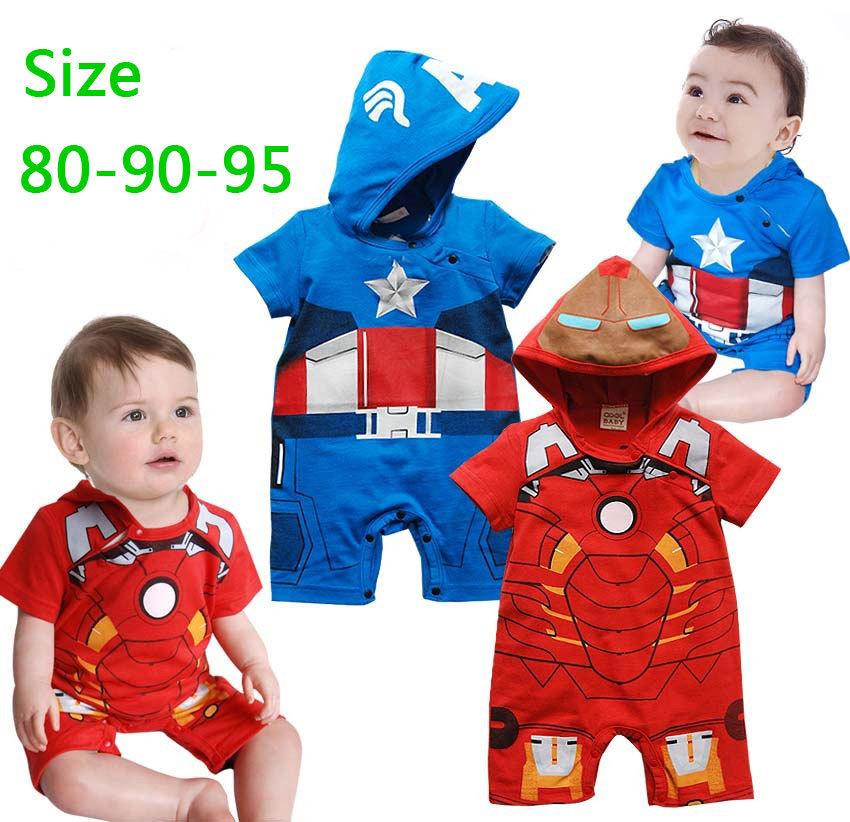 Cartoon Baby Iron Man Baby Rompers Iron Man Captain