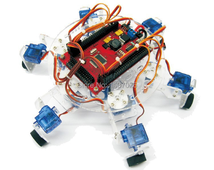 Educational robot hexapod chassis for arduino