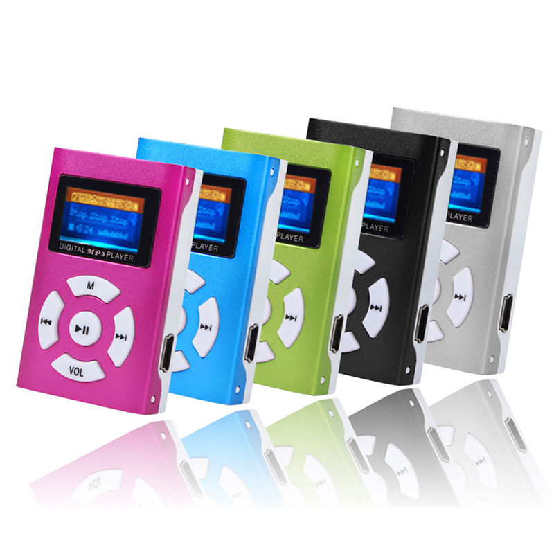 Adroit USB 2.0/1.1 Mini Rechargeable MP3 Player LCD Screen Support 32GB Micro SD TF Card DEC5(China (Mainland))