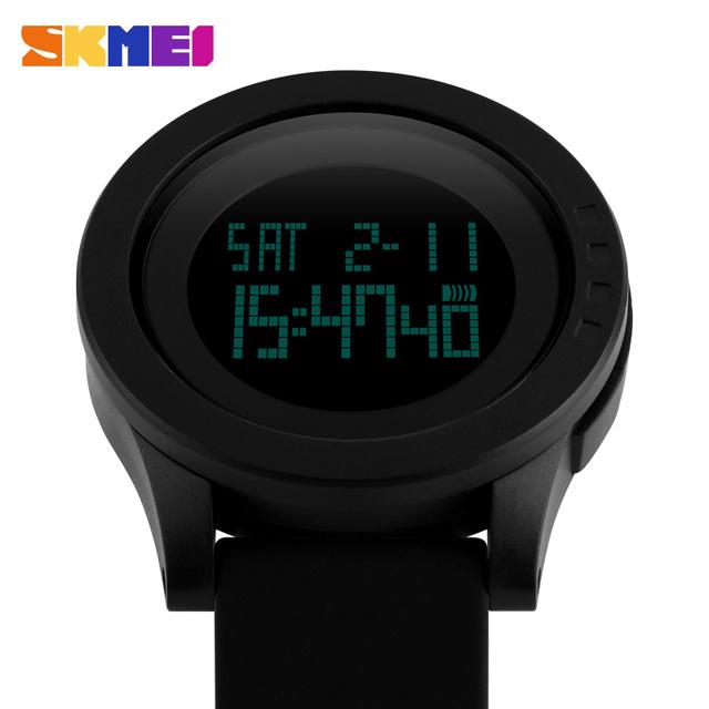 Zegarek sportowy SKMEI okrągły sylikonowa opaska czarny