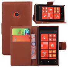 For Microsoft Nokia Lumia 520 Case Litchi Pattern Luxury Magnetic Flip PU Leather Case Cover For Nokia Lumia 520 With Card Slots(China (Mainland))