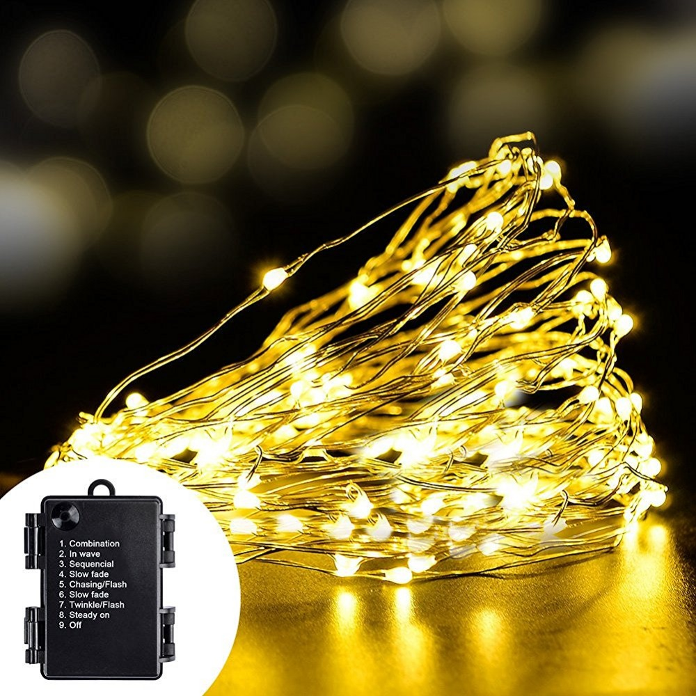 60 Led String Light 6M AA Battery Chritsmas/Wedding/Garden/Indoor Outdoor Decoration Lights 8 Mode Copper Wire Fairy Lights Lamp(China (Mainland))