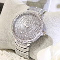 Hodinky Full Silver Rhinestone Luxury Brand Watch Women Wristwatches Quartz Watch Womens Watches Orologi Donna bayan