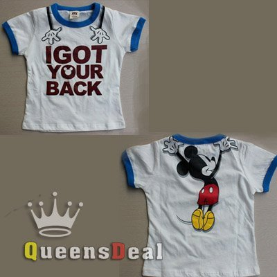 New Mickey Mouse 100% Cotton Children Girl Boy Korea Style Baby Casual Clothing Summer Short Sleeve Kid's T-Shirt, #B081