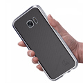 Luphie Luxury Aluminum Bumper for Samsung S7 for Galaxy S7 edge Phone Cases Back Leather Sticker