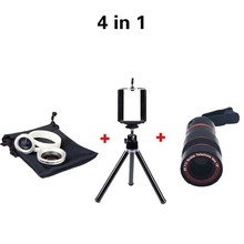 Buy New Type 4in1 8X Zoom Camera Telescope Lens min Tripod 2in1 Lens 0.67x Wide Angle Marco Lens IPhone Smartphone for $13.19 in AliExpress store