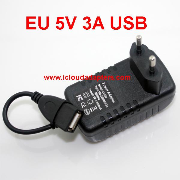 5 EU plug 5v 3000mA usb charger 3A mobile phone power adapter tablet pc wall - Shenzhen Deyunfei Electronics Ltd. store