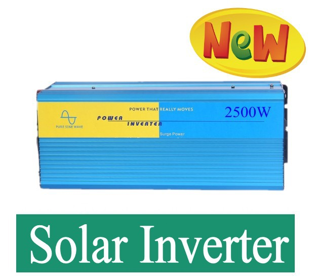 Power Converter Pure Sine Wave Power Inverter 2500W 12 or 24V DC to 110 or 220V AC surge power 5000W <br>