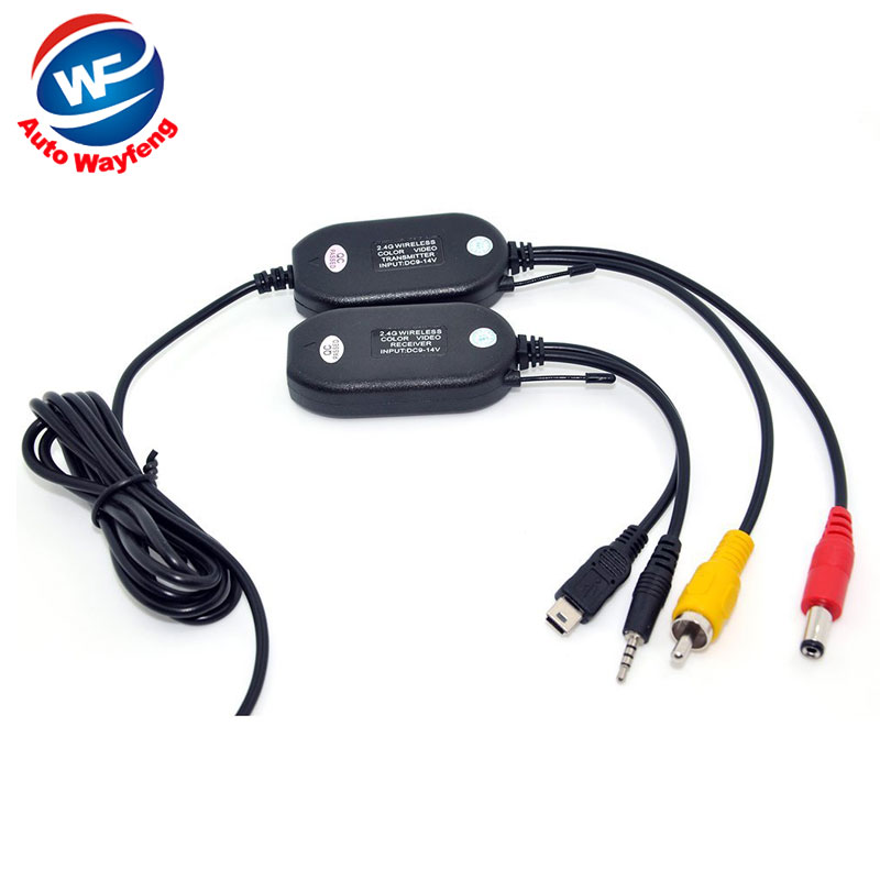 2.4G wireless transmitter 2.4G wireless receiver for Car GPS portable GPS Handheld GPS back up Reverse Rear View Camera WF(China (Mainland))