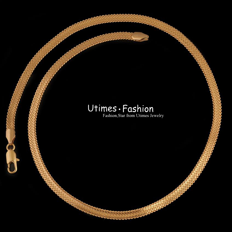 Ожерелье ( 460 * 4.5 мм ) мода 18 к позолоченные змея jewellry мужчины