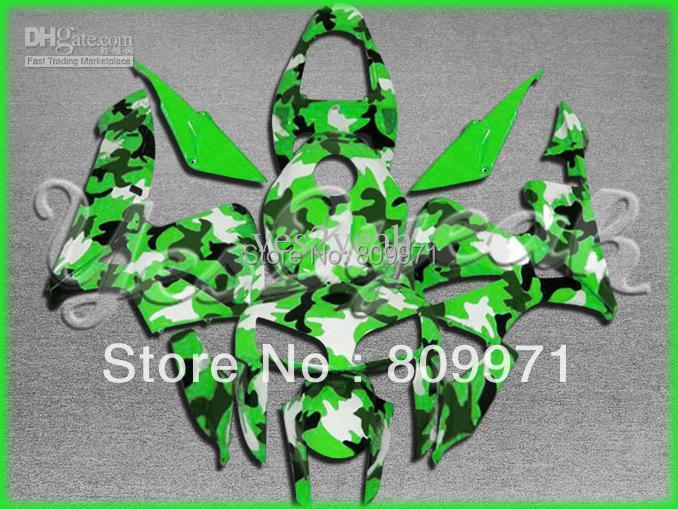 H299 Green White Injection Fairing CBR600RR 05-06 2005-2006 CBR 600RR 05 06 2005 2006 - Sunrise Motorcycle Co. Ltd store