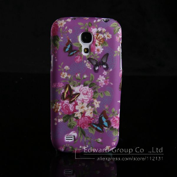 ALL Express on sale TPU Soft Back Mobile Phone Case For Samsung Galaxy S4 mini I9190 200pcs Retro Butterfly Floral Printting(China (Mainland))
