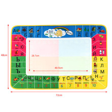 Kids Toys 72 * 48 CM Non-toxic Water Drawing Mat Board Painting and Writing Doodle With Magic Pen Educational Toy For Children(China (Mainland))