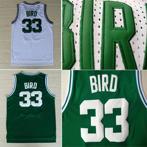 Top Sales Throwback Jersey, Free Shipping Boston #33 Larry Bird Jersey, Wholesale Price Vintage Basketball Jerseys Retro Jersey(China (Mainland))