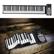 Stylish Portable 61 Standard Keys Silicone Rubber Soft Keyboard Roll Up Piano with LCD Silicone Electronic Piano(China (Mainland))