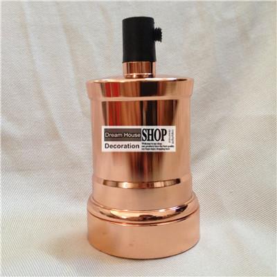 Free shipping 10pcs/lot Industrial vintage holders rose gold aluminum ceramic edison bulb E27/E26 110V/220V pendant lamp holders<br><br>Aliexpress