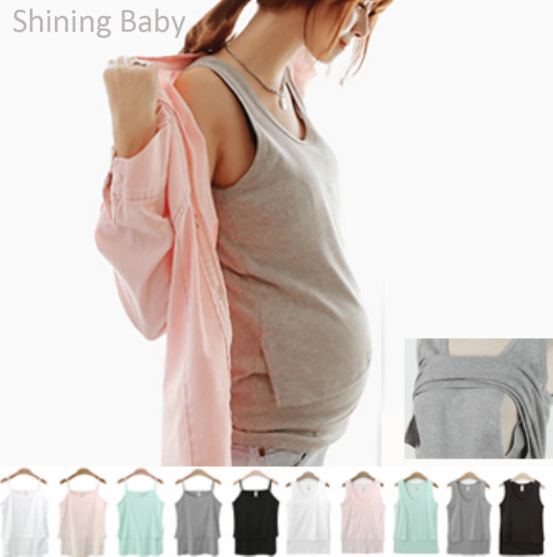 Maternity Tank Top Breast Feeding Cotton Vest Women Nursing Tops Camis For Pregnant Mother Puerpera Spring Summer Underwear(China (Mainland))