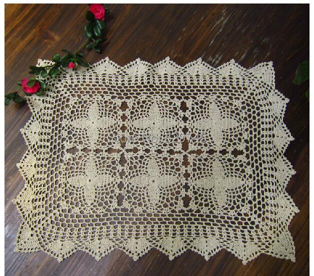 2014 New Chrismas Handmade Crochet Flowers Tablecloth