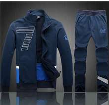New Spring Autumn Men's Brand Sports Tracksuit Set Leisure Hoodies Sweatshirts Sportswear men Two Pcs free shipping(China (Mainland))