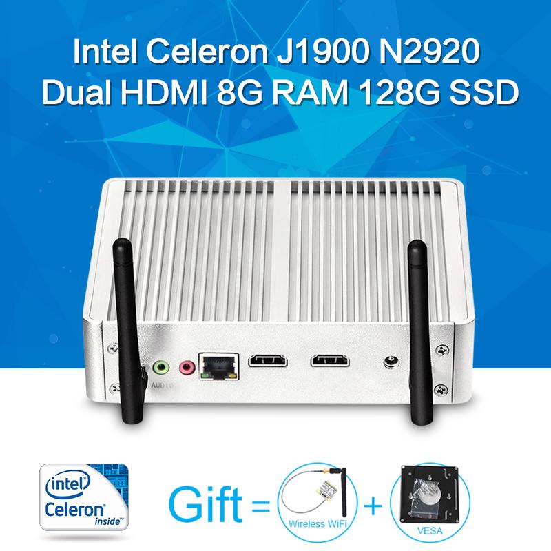 Mini PC ,Tablet Case ,Celeron N2920 J1900,Barebone,Fanless Motherboard ,2*HDMI 6USB,Laptop Thin Client(China (Mainland))
