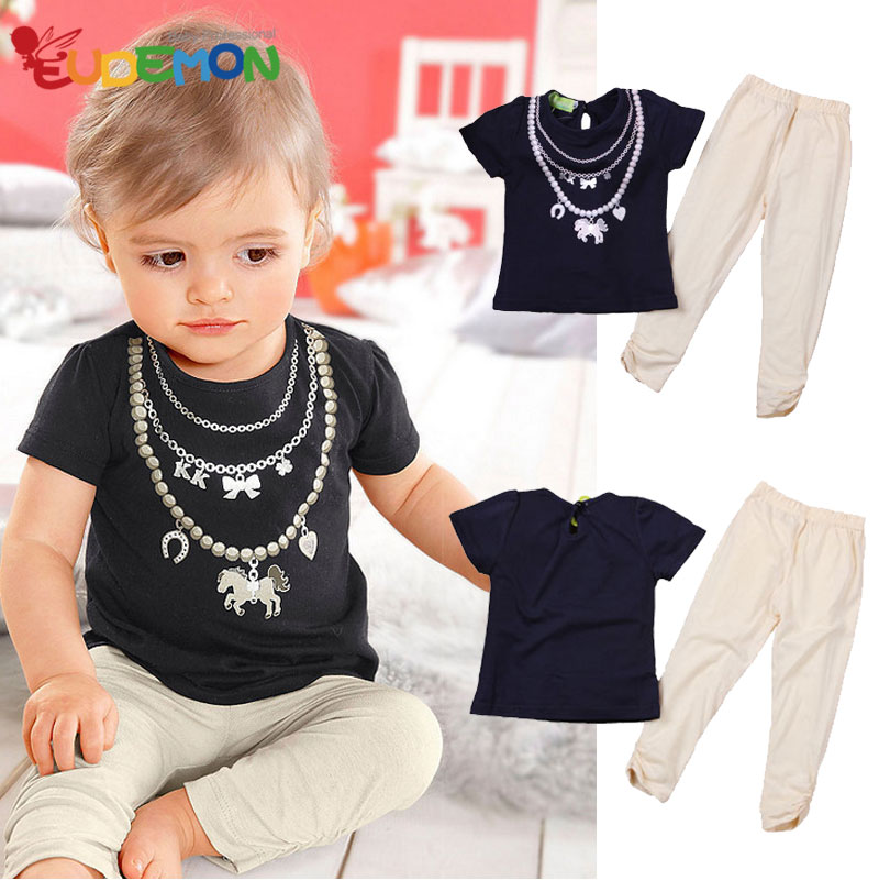 [Eudemon] kids clothes Cotton summer boys clothing sets black t shirts and pants for children clothed suit baby boys clothes(China (Mainland))