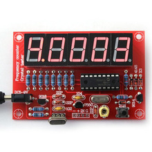 DIY Kits 1Hz-50MHz Crystal Oscillator Frequency Counter Meter Digital LED PIC New Arrival(China (Mainland))