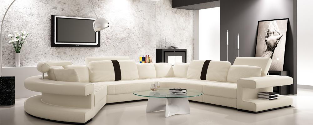 Couch u form modern  Sofa U Form Gebraucht: Große couch wohnlandschaft sofa weiß beige ...