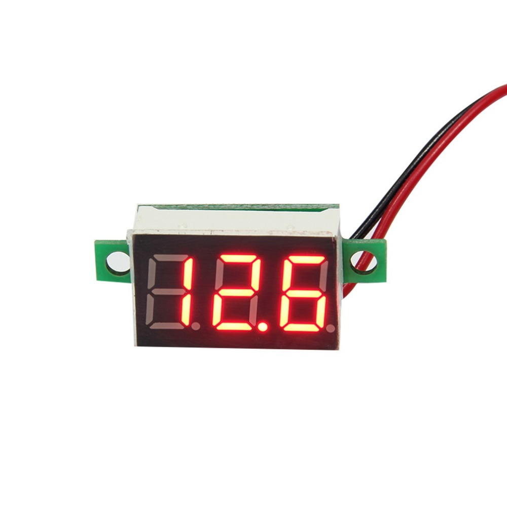 Mini White Green Blue LED Panel Voltage Meter 3-Digital Adjustment Voltmeter YKS<br><br>Aliexpress