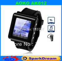 "Factory promotion New AK812 Tri-band Single Card Bluetooth 1.6"" Touch Screen Watch Phone"