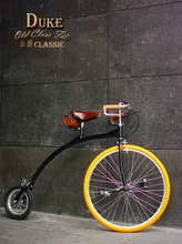 Retro Vintage High Wheel Penny Farthing Bike Bicycle Tweet Run London + SHIPPING DISCOUNT