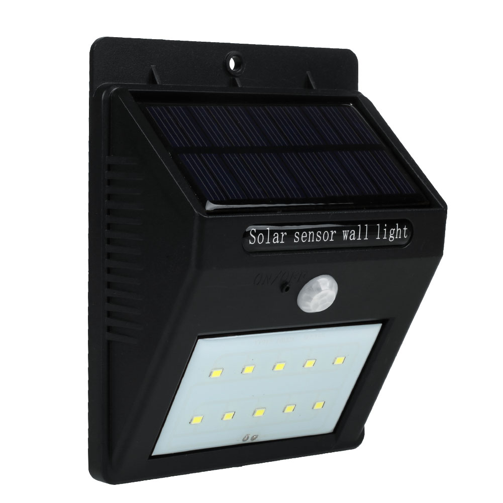 Outdoor Mini Solar Powered 10LEDs Security Light Daylight Intelligent Garden(China (Mainland))