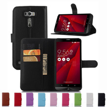 Super PU Leather Coque Carcasa Asus ZenFone 2 Laser ZE601KL 6inch Flip Case Genuine Housing fundas Back Shell Cover - Professional Phone Protect Store store