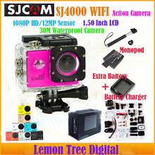Original SJCAM SJ4000 wifi 1080P Full HD Sport Action camera 30M Waterproof Extreme Sport Camera+Extra Battery+Charger +Monopod