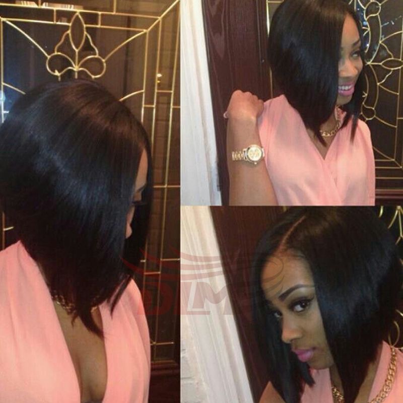 Full lace human hair bob wigs glueless Peruvian Virgin human short bob wigs for black women bob lace front wigs with baby hair<br><br>Aliexpress
