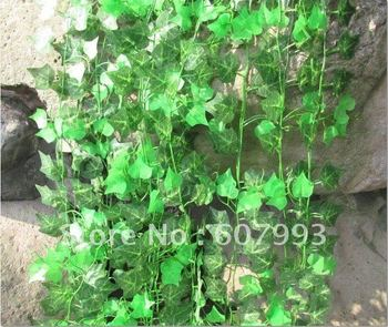 artificial flowers vine,home decoration faux flowers,fabric silk ivy, fake green vine boston ivy Virginia creeper free shipping