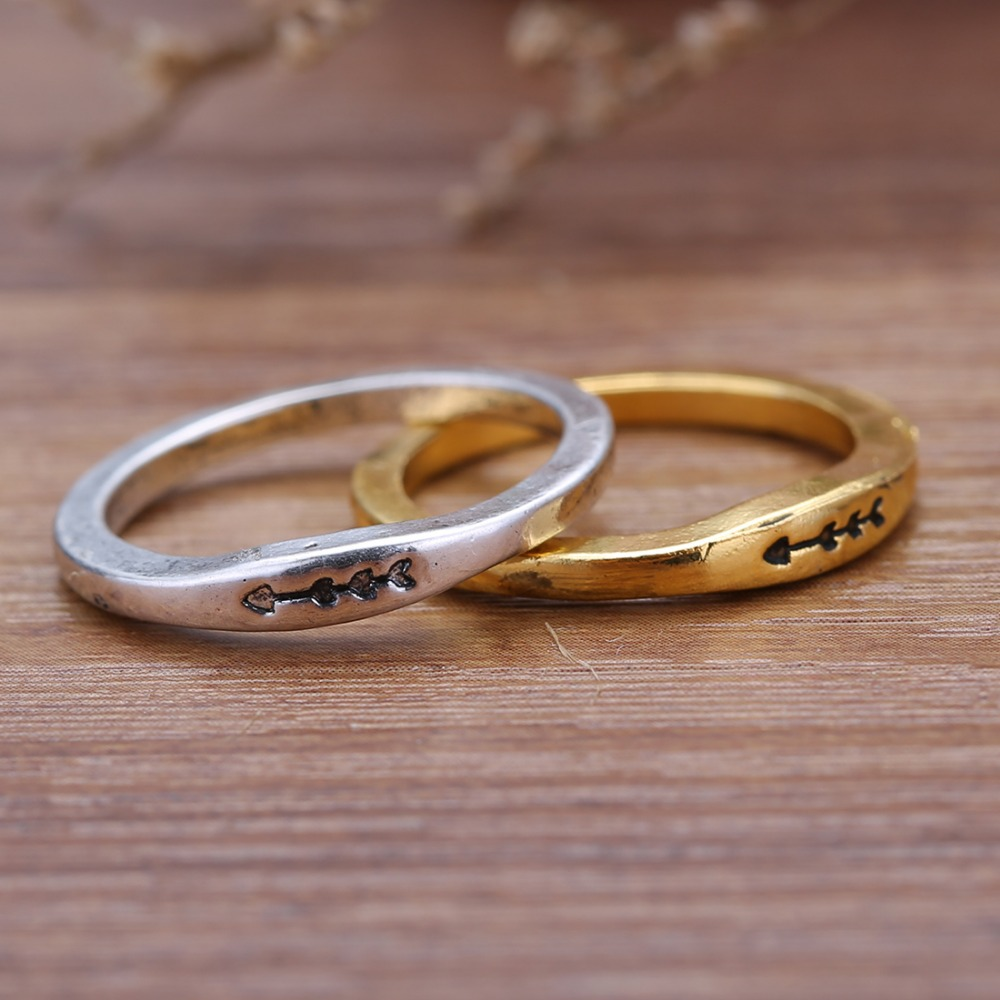 Buy couple wedding rings ancient gold for Jewelry storm arrow ring