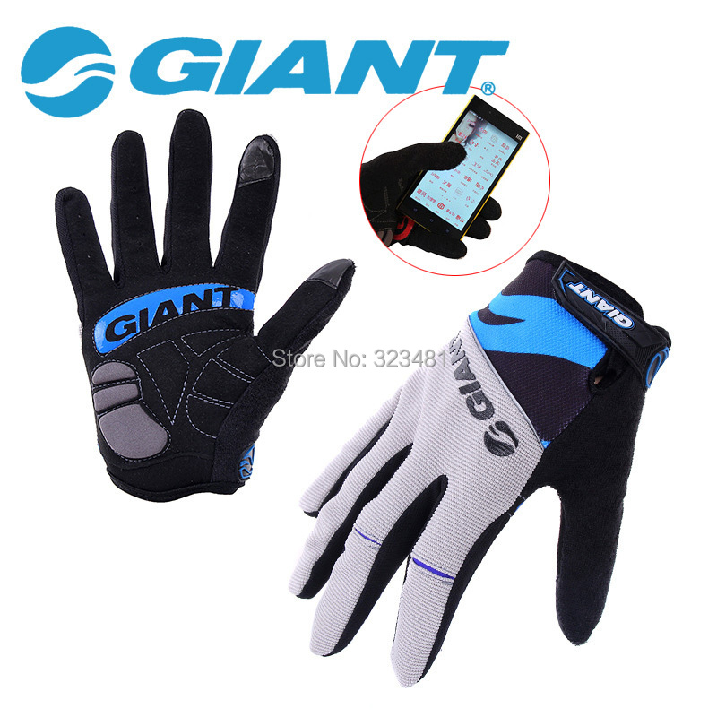 2015 New Giant Mountain Bike Gloves Touch Screen Full Finger cycling glove motocross Women Men guantes luvas para ciclismo<br><br>Aliexpress