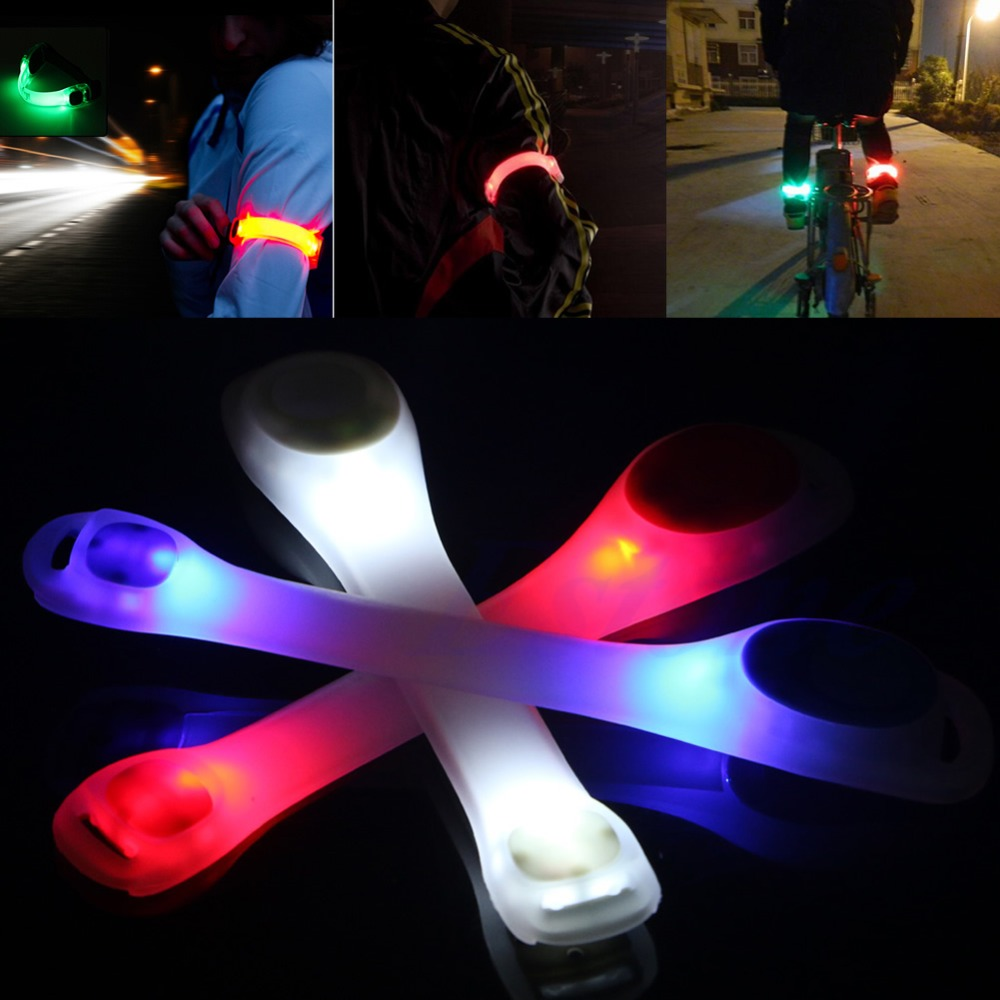 Flashing LED Safety Night Reflective Belt Strap Arm Band Armband Running Sports Free Shipping