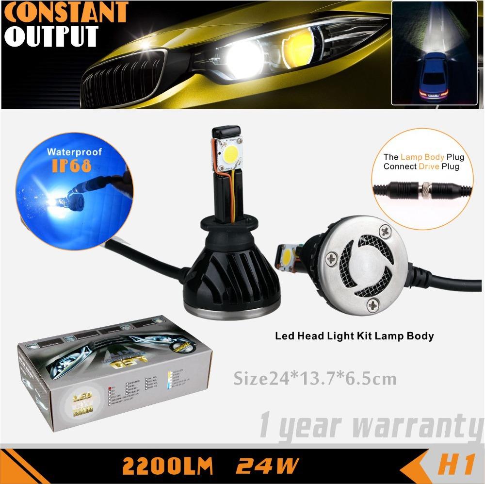 Led Lights Vs Hid Lights For Cars: SLDX Led Car HeadLight Bulb 5000K 12V 24W For Honda CR V