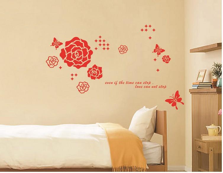Flor borboleta casa decora o espelho adesivos de parede for Decalque mural