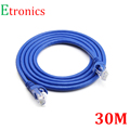 30 meters Cat6 Shielded RJ45 Ethernet Patch Network Cable Professional Gold Plated Plug STP Wires Cat