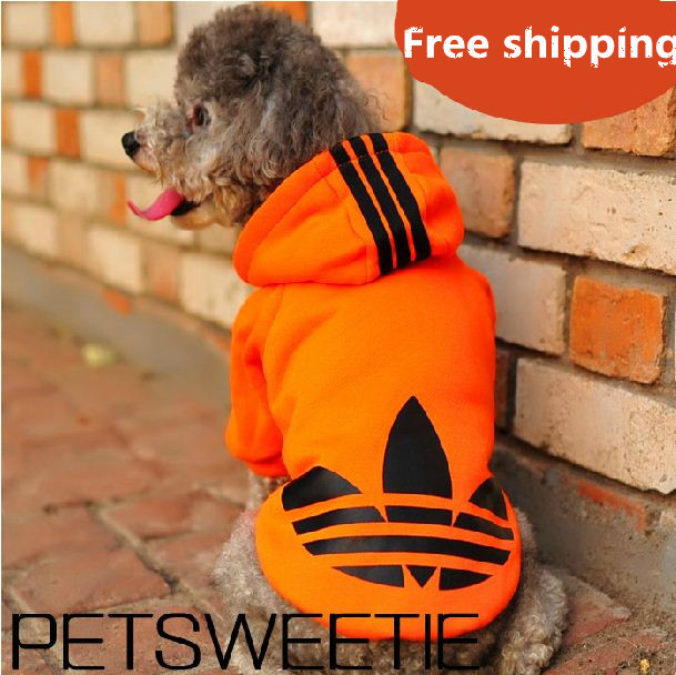 Free Shipping !! Fashionable Hooded Pet Dog Clothes Sports Hoody Jumper Puppy dogs Jacket Coat Christmas Apparel Teddy S - 4XL(China (Mainland))