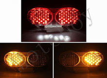 New! Clear Integrated LED Tail Light Signals For Kawasaki ZX6R ZX9R ZX900 ZZR600(China (Mainland))