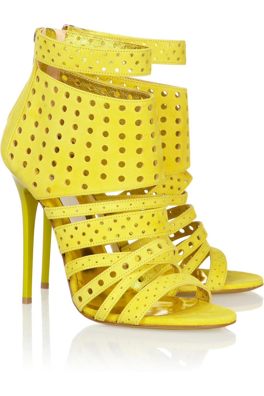 Yellow Gladiator Heels